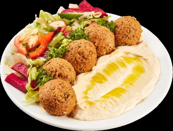 Falafel-Hummus Teller